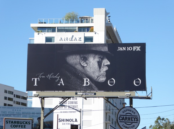 Tom Hardy Taboo FX series billboard