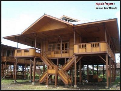 Desain Bentuk Rumah Adat Manado dan Penjelasannya, Rumah Adat Walewangko