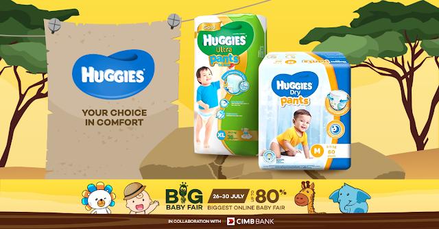 Promosi Huggies Diaper di lazada malaysia