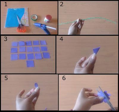 Tutorial Bunga Indah dari Kertas Origami 1