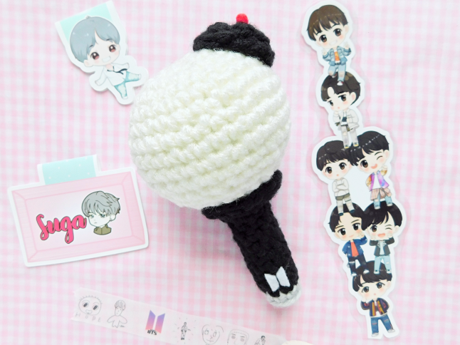 BTS Fan Stick Plush Crochet Pattern