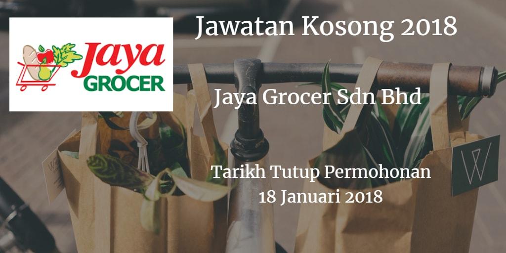 Jawatan Kosong TRENDCELL SDN BHD (Trading As Jaya Grocer) 18 Januari 2018