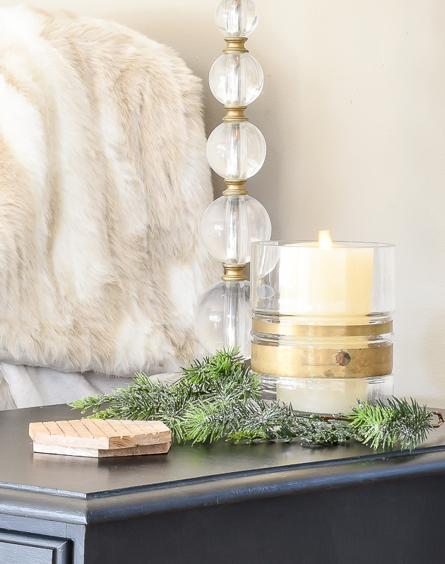 Decorating for winter with candles