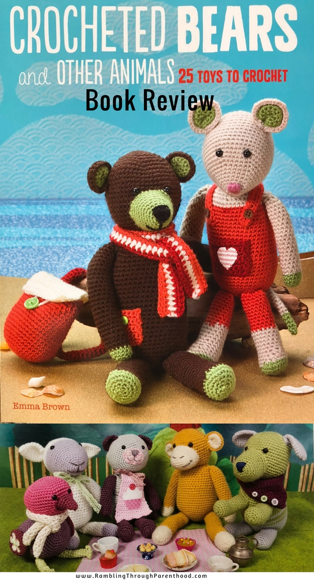 Crocheted Bears and Other Animals published by CICO-books, is a collection of crochet patterns showcasing Emma Brown's Shady Bay Buddies. There are 25 beautiful crochet patterns from bears, puppies and bunnies, to owls, fish and bumble bees. The patterns are suitable for beginners through to experienced crafters, From Christmas, to birthdays and christenings, these cute crocheted animals will make lovely presents for children of all ages.