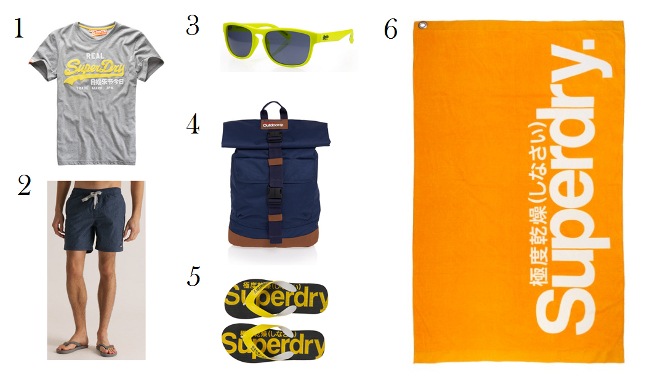 Look para ir a la playa de Superdry