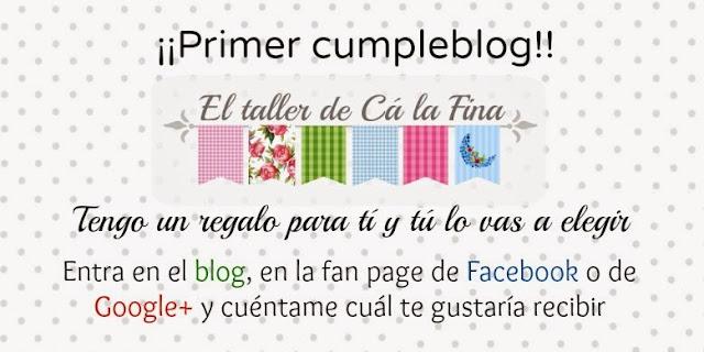 Cartel para la celebración del primer cumpleblog