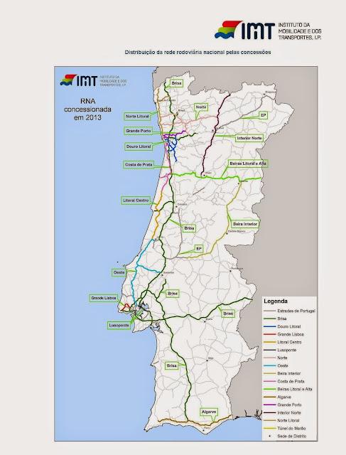 mapa de portugal itenerarios Mapas mapa de portugal itenerarios