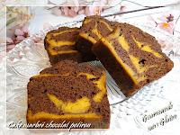 http://gourmandesansgluten.blogspot.fr/2014/02/cake-marbre-chocolat-potiron.html