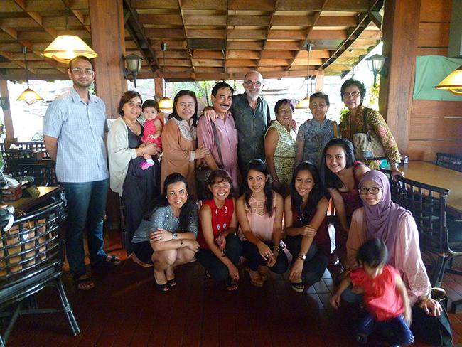 La familia de Jakarta