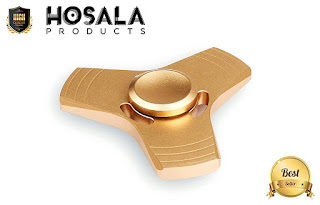 HOSALA - SPINNER FIDGET HAND TOY TORQBAR EDC 2-4mins. Focus, Stress reducer, Relieve AD, ADHD, anxiety, boredom. Dirt Resistant, Smooth Surface, Ultra Durable, Killing Time. (gold)