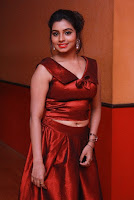 Tamil Actress Anisha Xavier Pos in Red Dress at Pichuva Kaththi Tamil Movie Audio Launch  0009.JPG