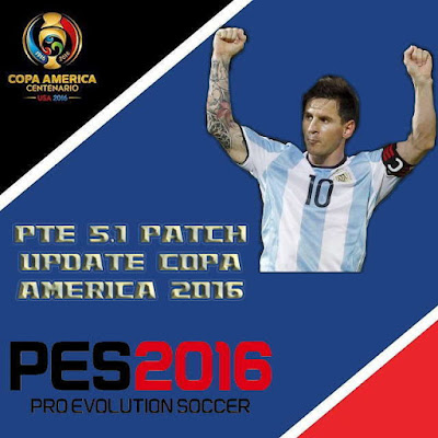 PES 2016 Copa America 2016 Update for PTE Patch 5.1