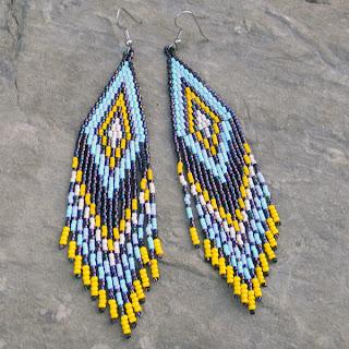 Купить длинные бисерные серьги с бахромой купить серьги в этническом стиле