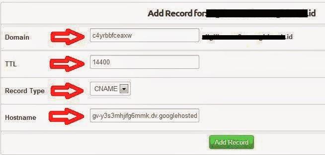Cara Memasang Custom Domain RumahWeb pada Blogger