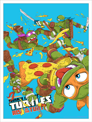 Teenage Mutant Ninja Turtles: Rise of the Turtles Variant Screen Print by JJ Harrison x Mondo