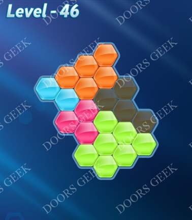 Block! Hexa Puzzle [5 Mania] Level 46 Solution, Cheats, Walkthrough for android, iphone, ipad, ipod