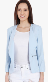 Short Body Blazer in soft smooth color for Office wear