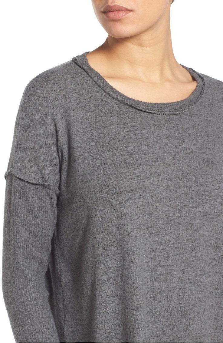 long sleeve fuzzy top