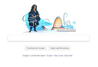 Screnshoot Doodle Google Zaha Hadid