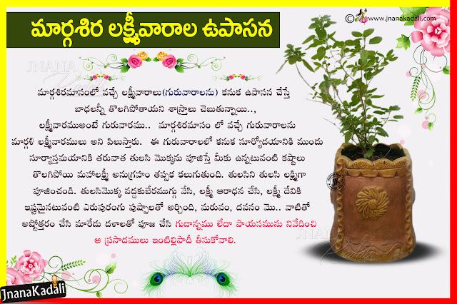 goddess lakshmi devi information in telugu, tulasi pooja information in telugu, telugu goddess lakshmi devi pooja vidhanam information in telugu