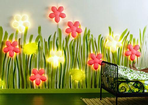 L'éclairage peut composer à lui-seul toute la décoration de la chambre.