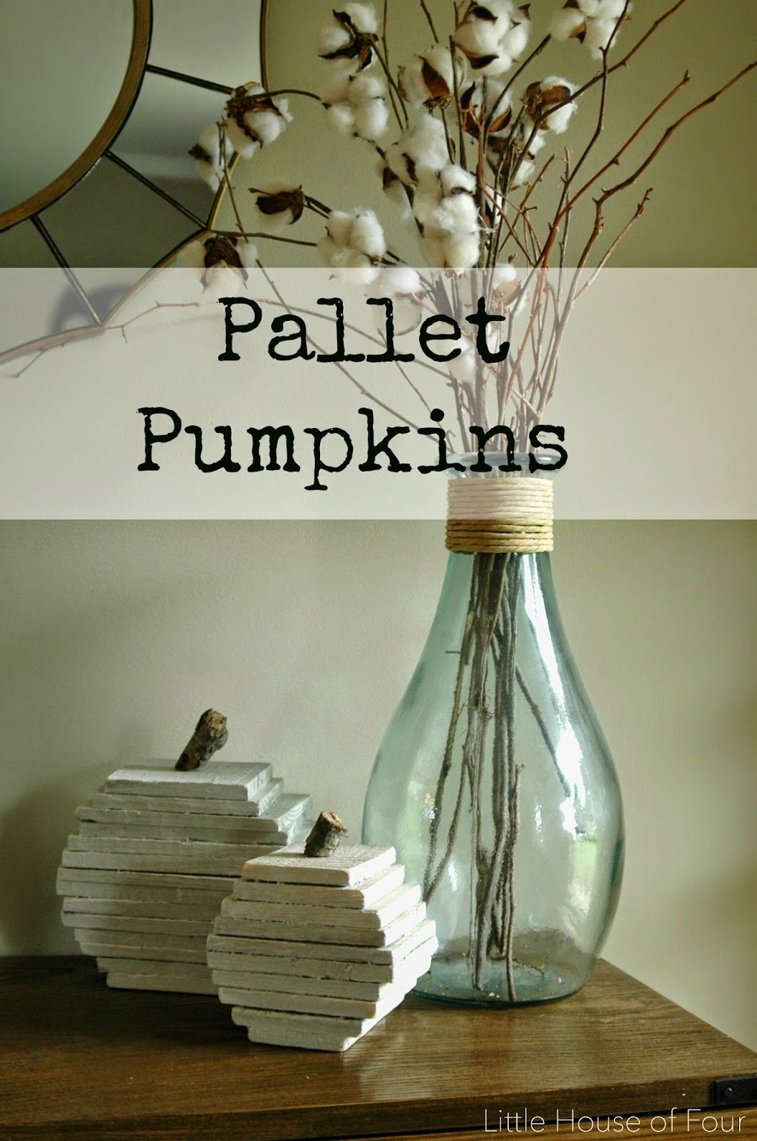 DIY rustic pumpkins from pallet wood. -Littlehouseoffour.com