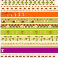 autumn themed pattern stripes