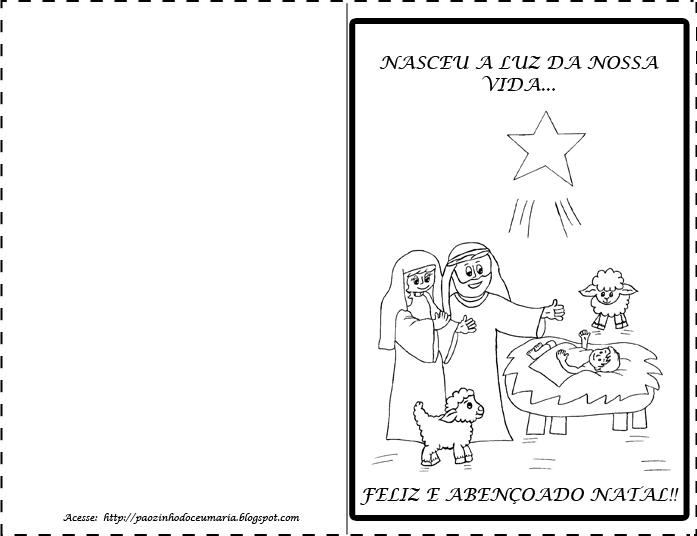 pãozinho do céu cartão de natal catequese