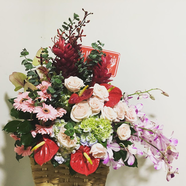 Hình ảnh giỏ hoa, lẵng hoa đẹp chúc mừng sinh nhật