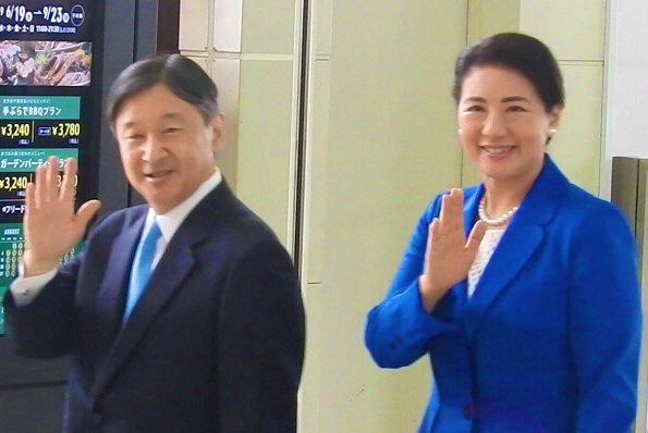 Emperor Naruhito and Empress Masako attended the opening ceremony of the 74th National Sports Festival