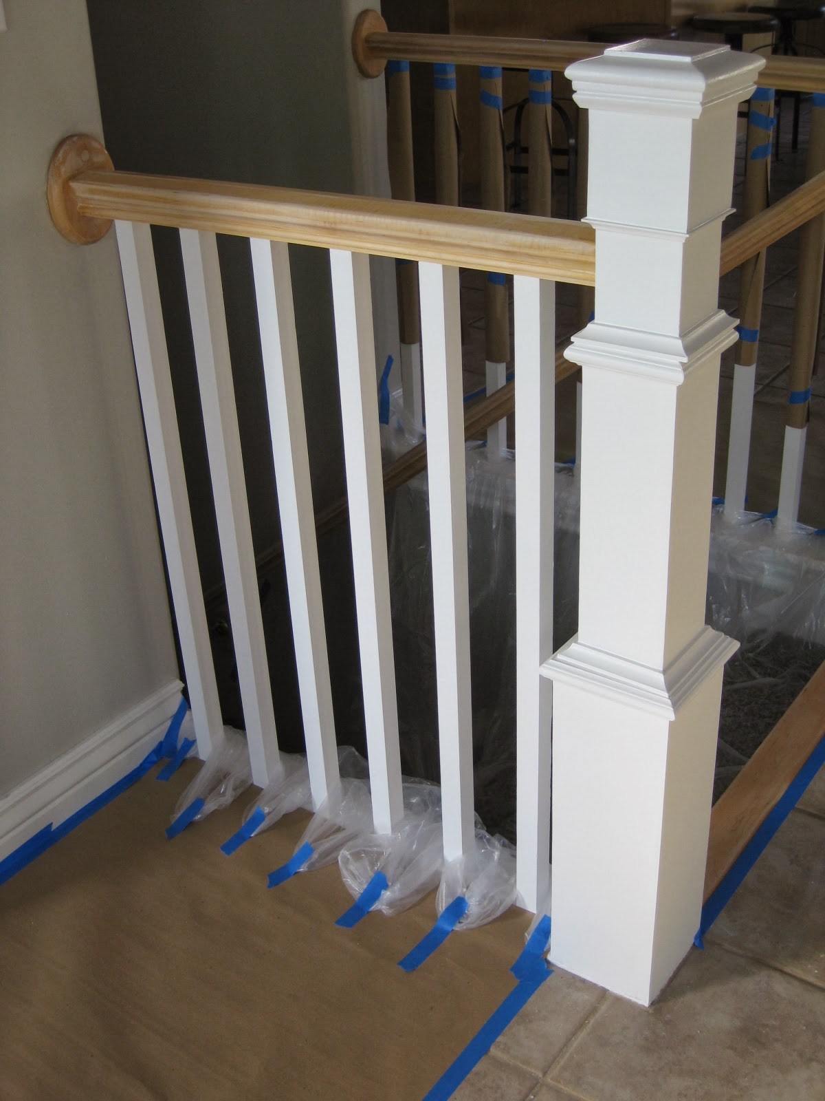 replacing stair spindles tda decorating and design diy stair banister tutorial 1881