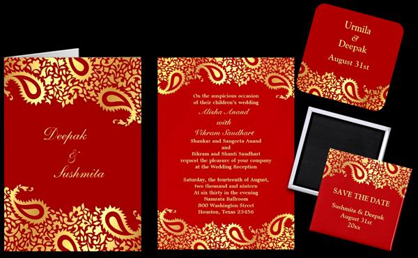 Modern Indian Wedding Invitations Mi