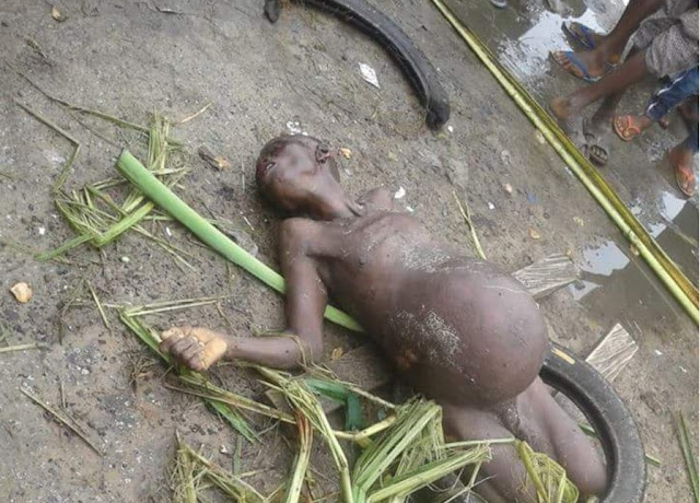 "SHOCKER! ""Old Witch"" Caught after Stealing Woman's Pregnancy in Delta; Str!pped Uncl@d (Photos)"