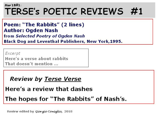 "Here's a review that dashes / The hope for ""The Rabbits"" of Nash's."