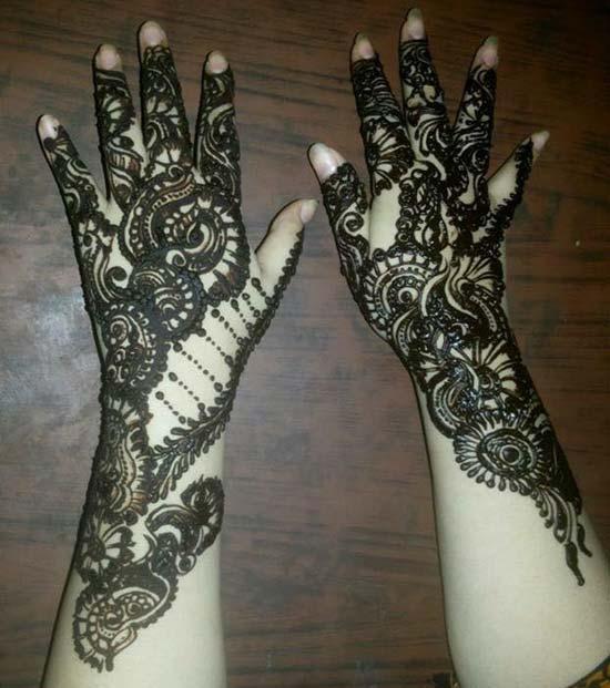 Khaleeji Mehndi Designs For Bride Bridal Both Hands pic