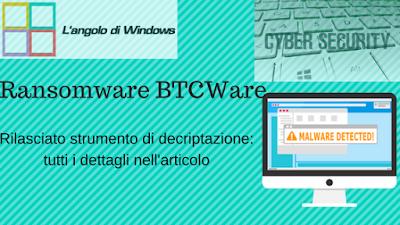 Rilasciato%2Bstrumento%2Bdi%2Bdecriptazione - Rilasciato decrypter per il ransomware BTCWare