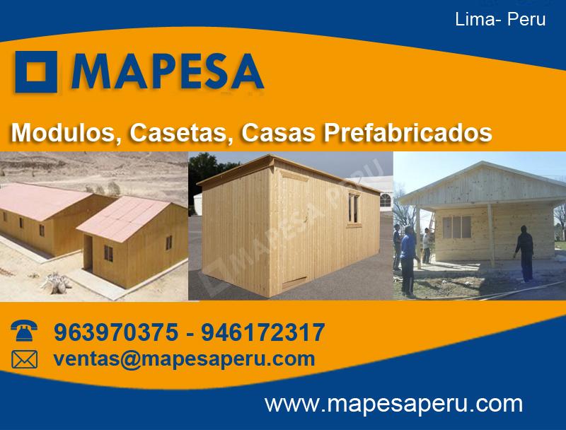 Mapesaperu casetas y m dulos para obras m dulos - Modulos prefabricados para viviendas ...