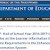 DO 23, s. 2017 - End of School Year 2016-2017 Updating of Learner Profiles on the Learner Information System and Additional Data Requirements in the Enhanced Basic Education Information System