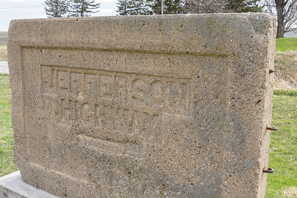 Jefferson Highway Marker in Colo, IA