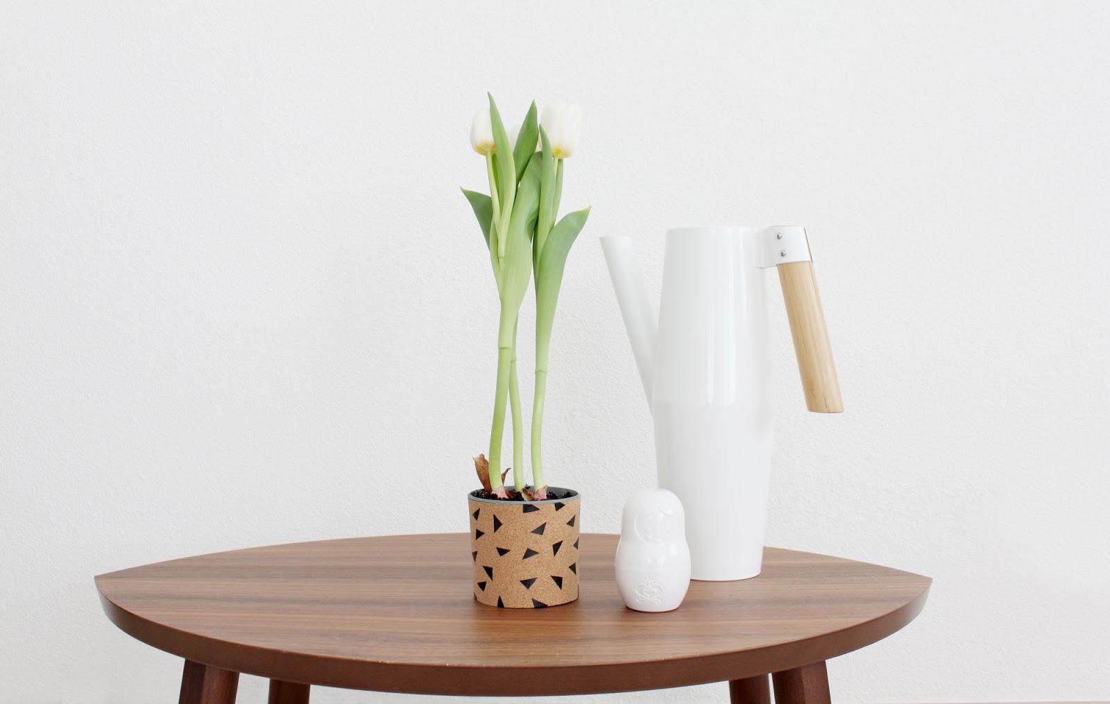 DIY Tulpen Blumentopf im nordischen Stil mit Kork
