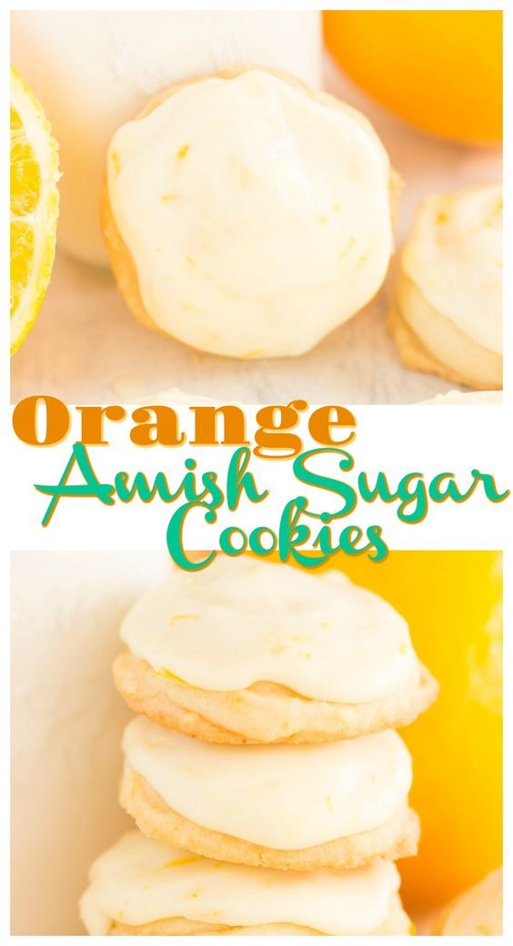 Iced Orange Amish Sugar Cookies
