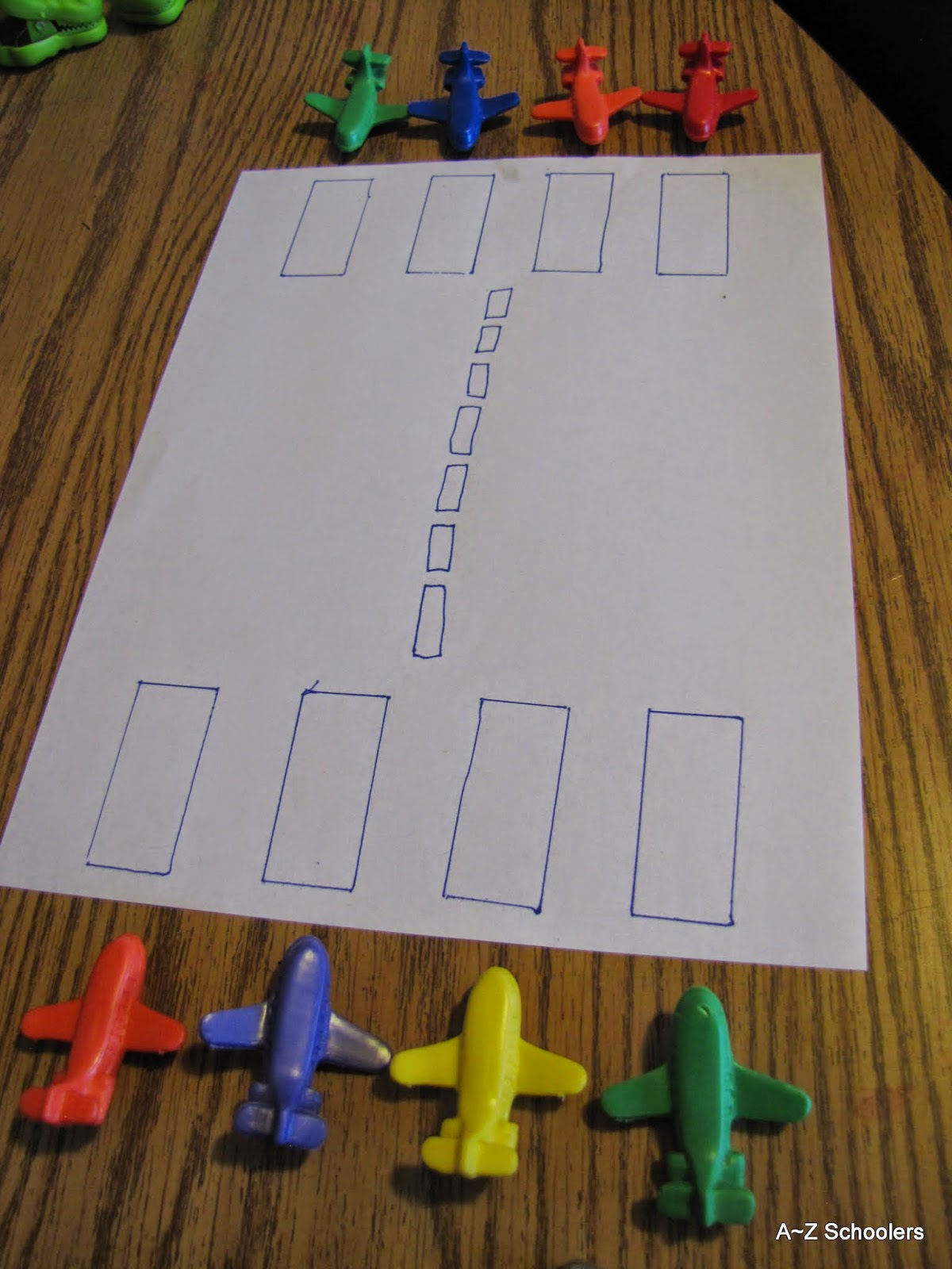 A  Z Schoolers Adventures with Airplanes  Letter A