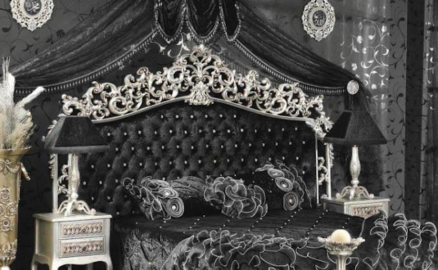 black and silver vintage bedroom furniture sets ideas