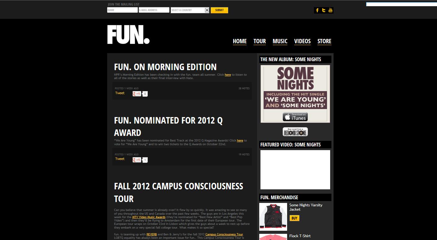 Media coursework website