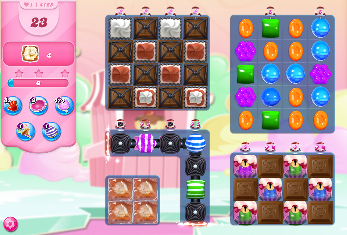Candy Crush Saga level 4163