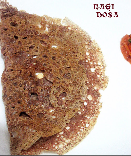 Instant ragi dosa with wheat flour
