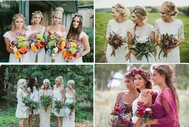бохо свадьба подружки невесты бохо