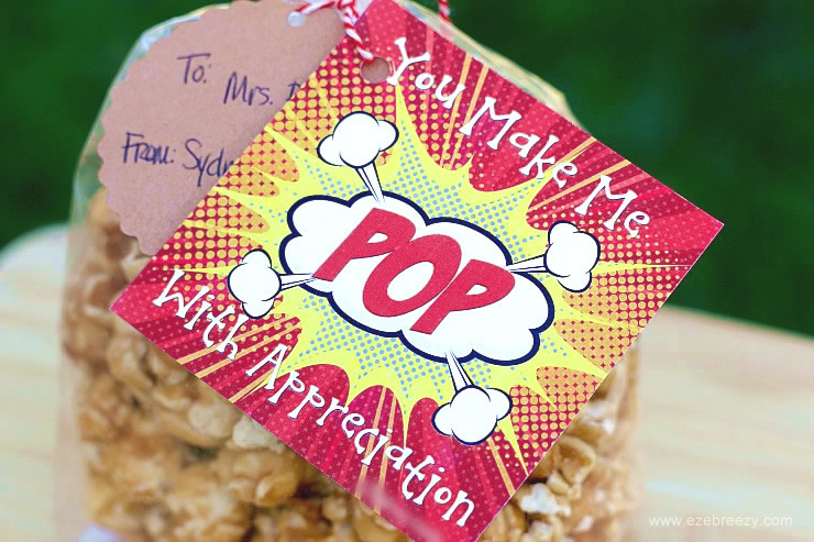 photograph about Popcorn Teacher Appreciation Printable identify 60+ Do-it-yourself Trainer Appreciation Items Sew Easy House