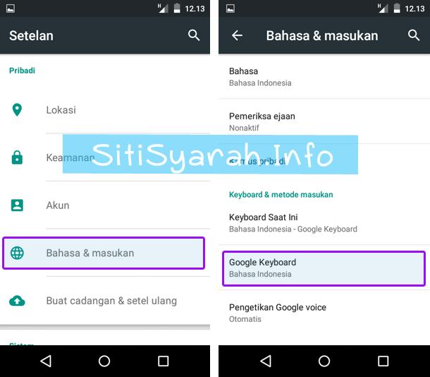 Rubah Keyboard Android Lollipop