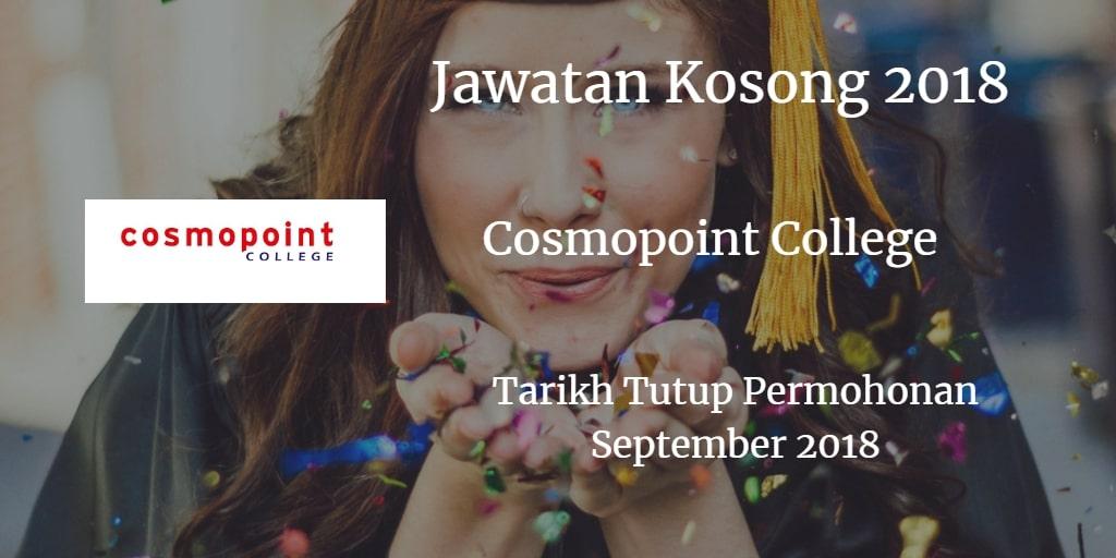 Jawatan Kosong Cosmopoint College September 2018